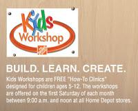 >Home Depot Kids Workshop THIS Weekend!!!