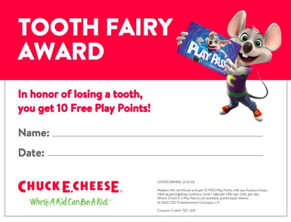 Tooth Fairy Award