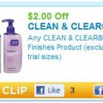 $2.00 Off Clean and Clear Finishes Products…