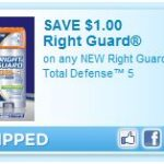 $1.00 off of Right Guard Total Defense Deodorant…