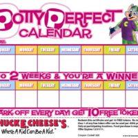 FREE Rewards Calendars from Chuck E Cheese