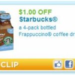 $1.00 off a 4Pack of Starbucks Frappuccino!