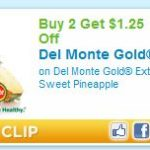 $1.25 off of two Del Monte Gold Pineapples Printable Coupon