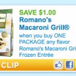 Romano's Macaroni Grill Frozen Entrée Printable Coupon