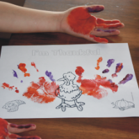 FREE I'm Thankful Turkey Coloring Template for Kids!