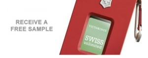 Free Sample of Swiss Army Fragrance