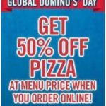 Global Domino's Pizza Day = 1/2 Off Pizza Orders Today!