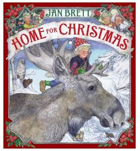 Winner, Winner, WINesday #1: Scholastic Book Review and Giveaway of Jan Brett's Home for Christmas Book!