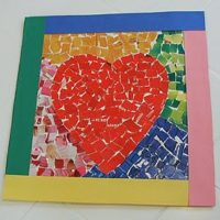 Make a Mosaic Heart for Valentines Day!