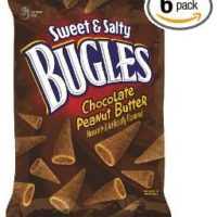 Bugles Crispy Corn Snacks Sweet and Salty Chocolate Peanut Butter 6-Ounce (Pack of 6) for $10.05