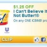 $1.25 Off I Can't Believe It's Not Butter!® Printable Coupon + More!