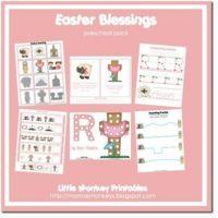 FREE Easter Blessings Preschool Pack from Our Little Monkeys