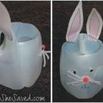 She's Crafty: Easter Bunny Milk Jug Basket