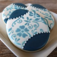 Blue Easter Egg Cookies