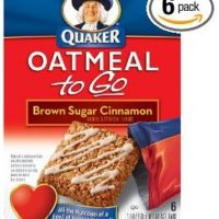 Quaker Oatmeal To Go Brown Sugar Cinnamon Breakfast Bars 6-Count Boxes (Pack of 6) for $10.41 Shipped