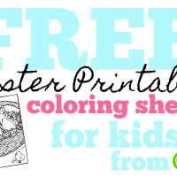 Free Crayola Printable Easter Coloring Pages and More!