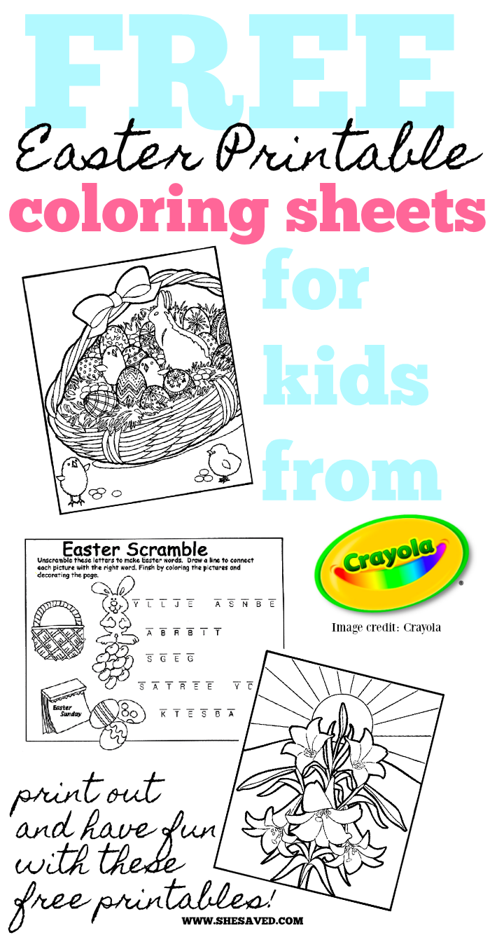 FREE Easter Printable Kid Activities from Crayola