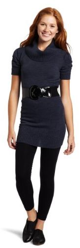 A. Byer Juniors Relaxed Shirred Dress with Cowl Neck and Belt for $6.68 Shipped