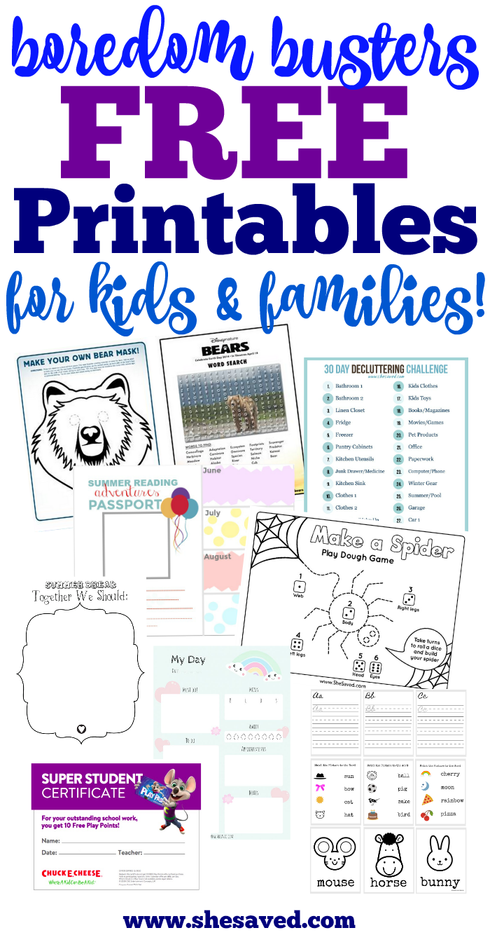 Free Printables for Kids and families