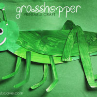 FREE Printable: Grasshopper Craft
