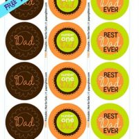 Father's Day Circle tags or Cupcake Toppers