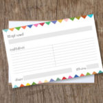 FREE Download: Bunting Flags Recipe Cards