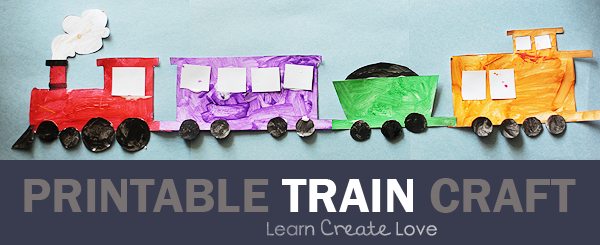 It is a photo of Wild Free Printable Train Template