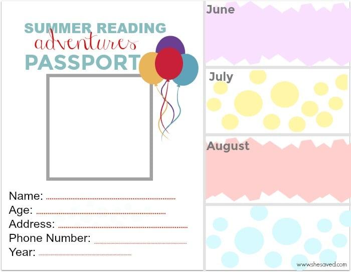 Free Summer Passport Printable