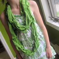 How to Make a Recycled T-shirt Scarf