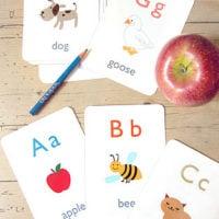 Free Printable: Alphabet Flash Cards