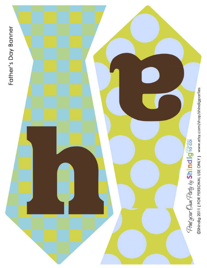 printable father's day banner