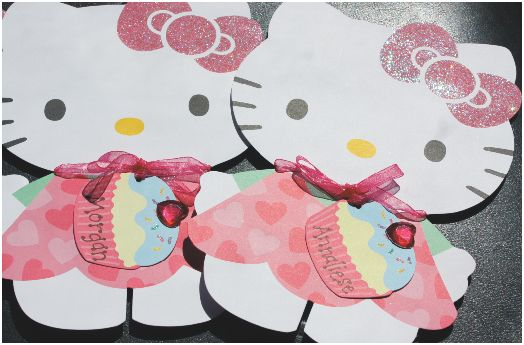 Hello Kitty Birthday Party Cake Invitations Shesaved