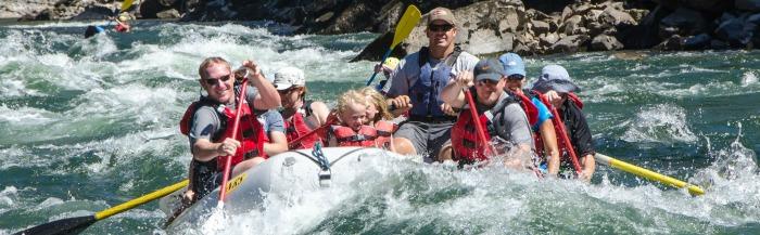 white water rafting in Idaho