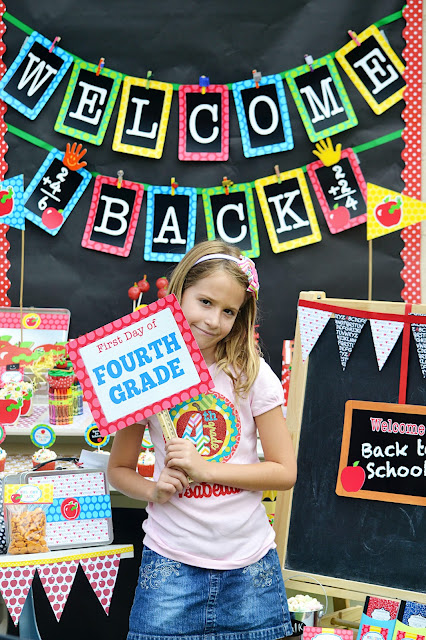 Free back to school printables for parties and decorations for Back to school party decoration ideas