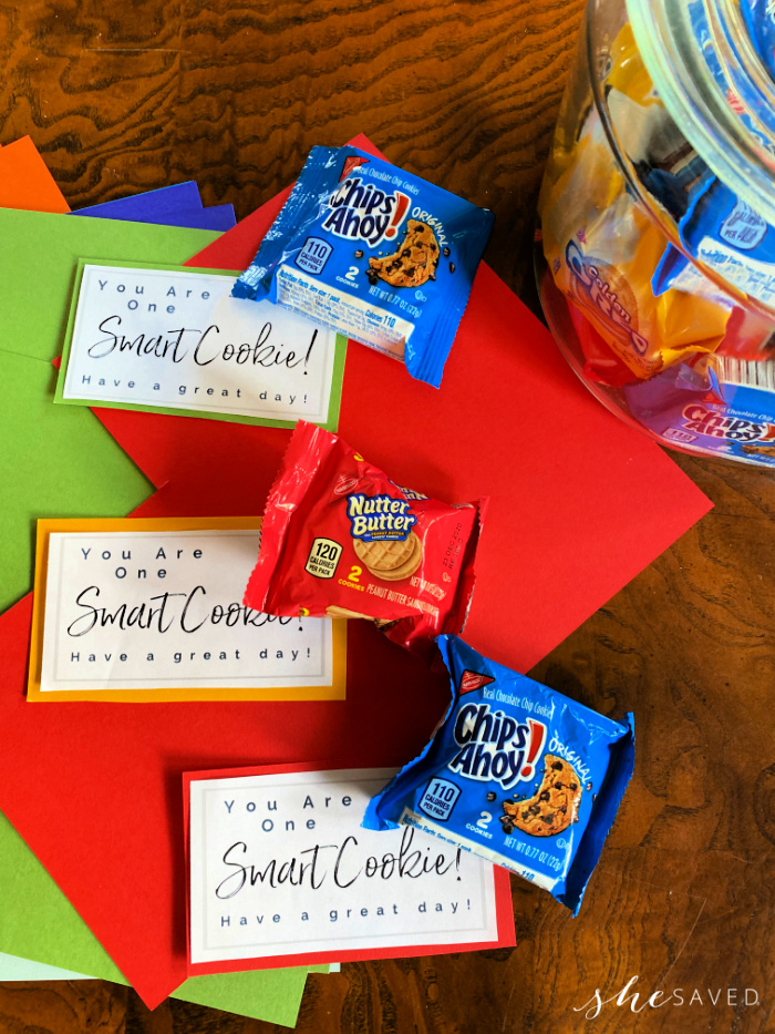 Smart Cookie Printable free notes for kids lunches that say You Are One Smart Cookie