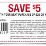 $5/$25 Ace Hardware Printable Coupon