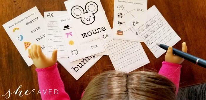 Doll Size Printable Worksheets