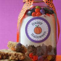Free Printable Halloween Cookies in a Jar Recipe