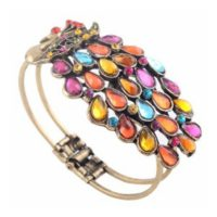 Multi Vintage Colorful Crystal Peacock Bracelet for $1.59 Shipped