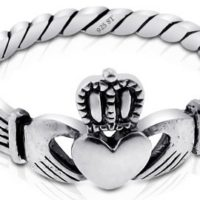 Sterling Silver Claddagh Ring For $6.91 Shipped