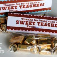 FREE Printable Sweet Teacher Appreciation Gift