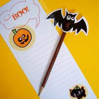 FREE Printable Halloween Pencil Topper & Stationery