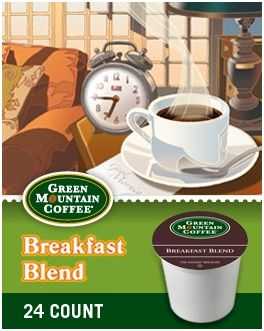 Green Mountain Breakfast Blend K-cups for $10.99 (24 Ct. Box)