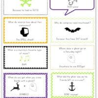 Free Printable Halloween Joke Lunch Notes