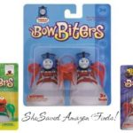 Bow Biters for $2.99 + FREE shipping, includes Thomas the Tank Engine, Elmo and Builder Bob!
