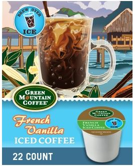 Green Mountain French Vanilla Iced Coffee K-Cup Sale at Cross Country Cafe
