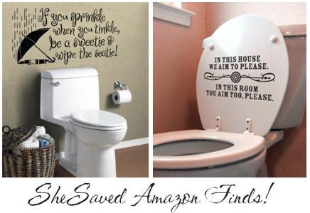 Bathroom Humor bathroom humor vinyl decals on amazon - shesaved®