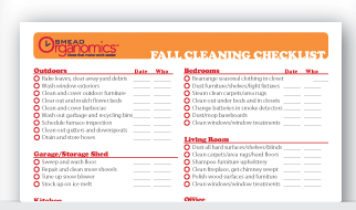 FREE Printable Fall Cleaning Checklist