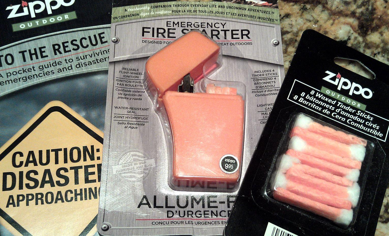 Winner, Winner, WINesday #3: Zippo Emergency Fire Starter Kit Review & Giveaway