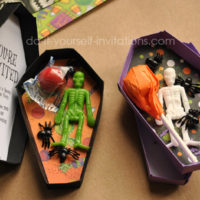 Free Printable Halloween Coffin Invitations